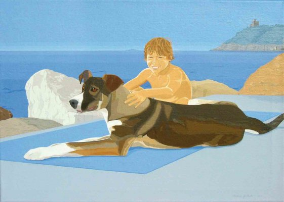 First Days of Summer (Andrea & Bibo)o / 2005 / acrylic on canvas / 50 x 70 cm