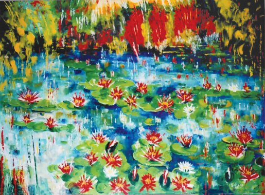 Giardino d'acqua / 2005 / oil on canvas / 80 x 100 cm